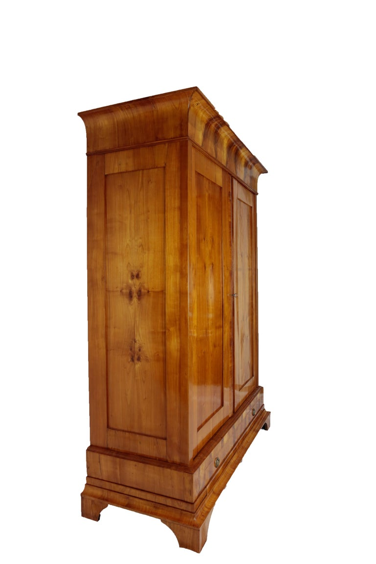 Biedermeier Period Cupboard Cabinet, Cherrywood, circa 1820 5
