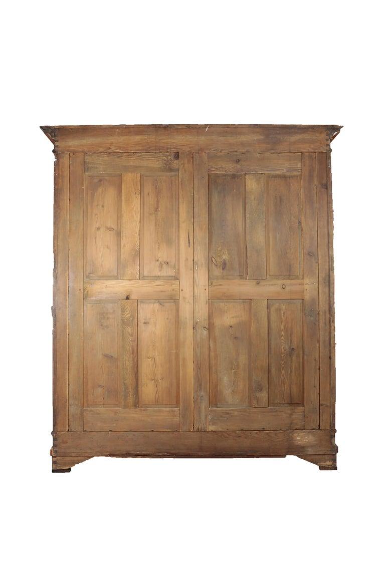 Biedermeier Period Cupboard Cabinet, Nutwood and Cherrywood, circa 1830, Brown For Sale 2