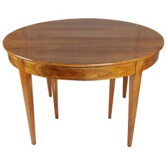 Biedermeier Period Dining Table, circa 1830-1840, Cherry and Nutwood, Extendable
