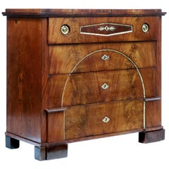 Biedermeier Period Swedish Mahogany Secretaire Chest of Drawers