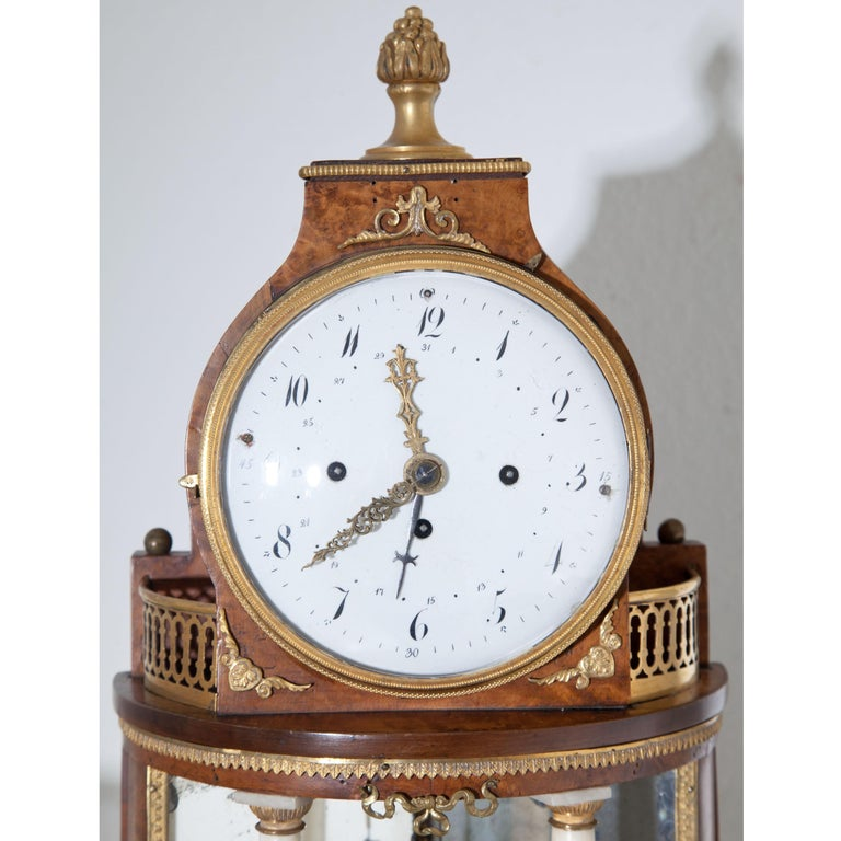 Biedermeier Portal Clock, Probably Vienna, circa 1820-1830 For Sale 4