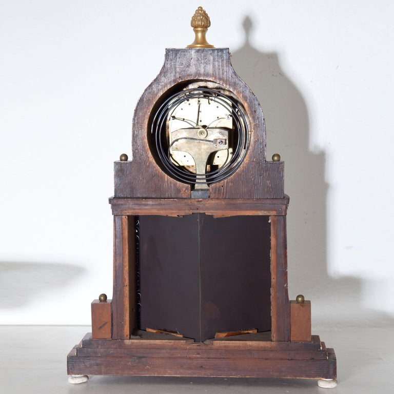 Biedermeier Portal Clock, Probably Vienna, circa 1820-1830 For Sale 6