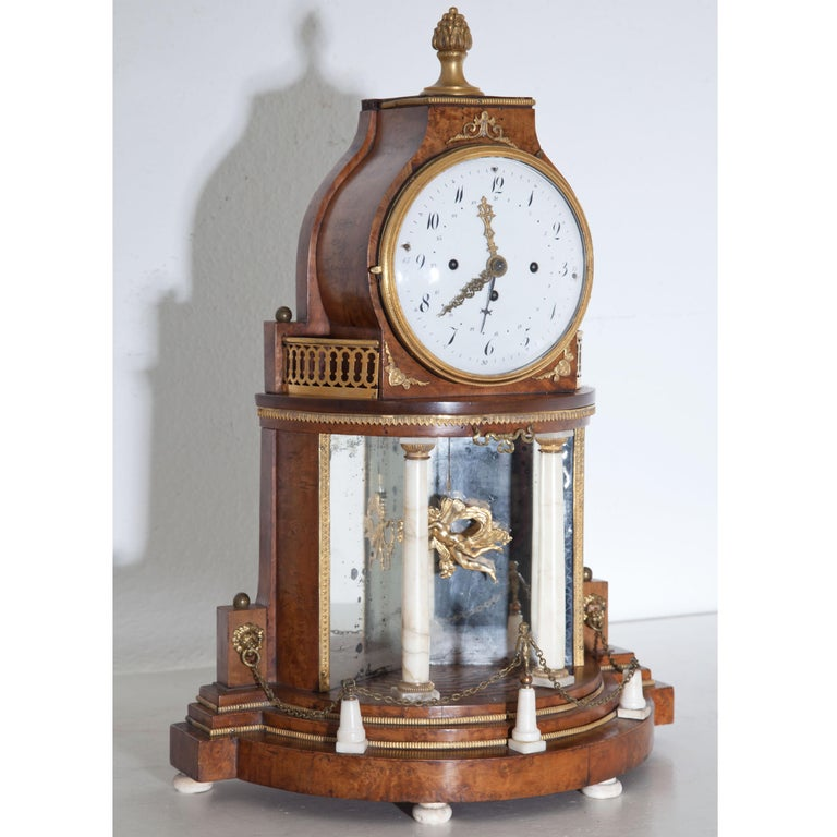 Austrian Biedermeier Portal Clock, Probably Vienna, circa 1820-1830 For Sale