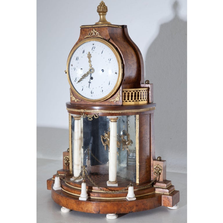 Biedermeier Portal Clock, Probably Vienna, circa 1820-1830 In Good Condition For Sale In Greding, DE