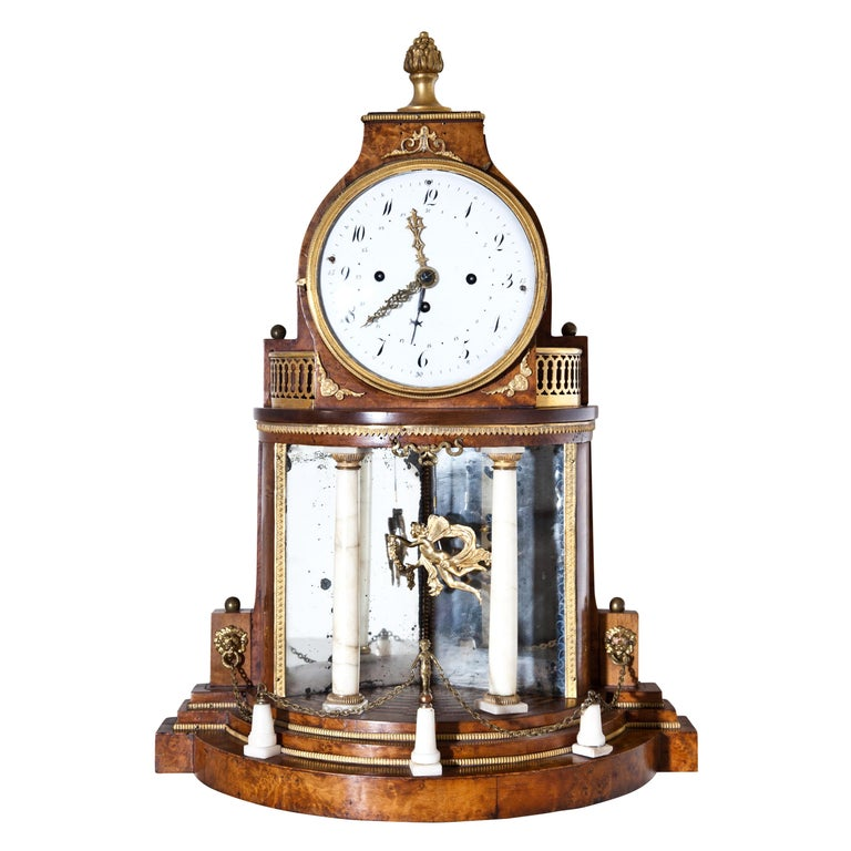 Biedermeier Portal Clock, Probably Vienna, circa 1820-1830 For Sale