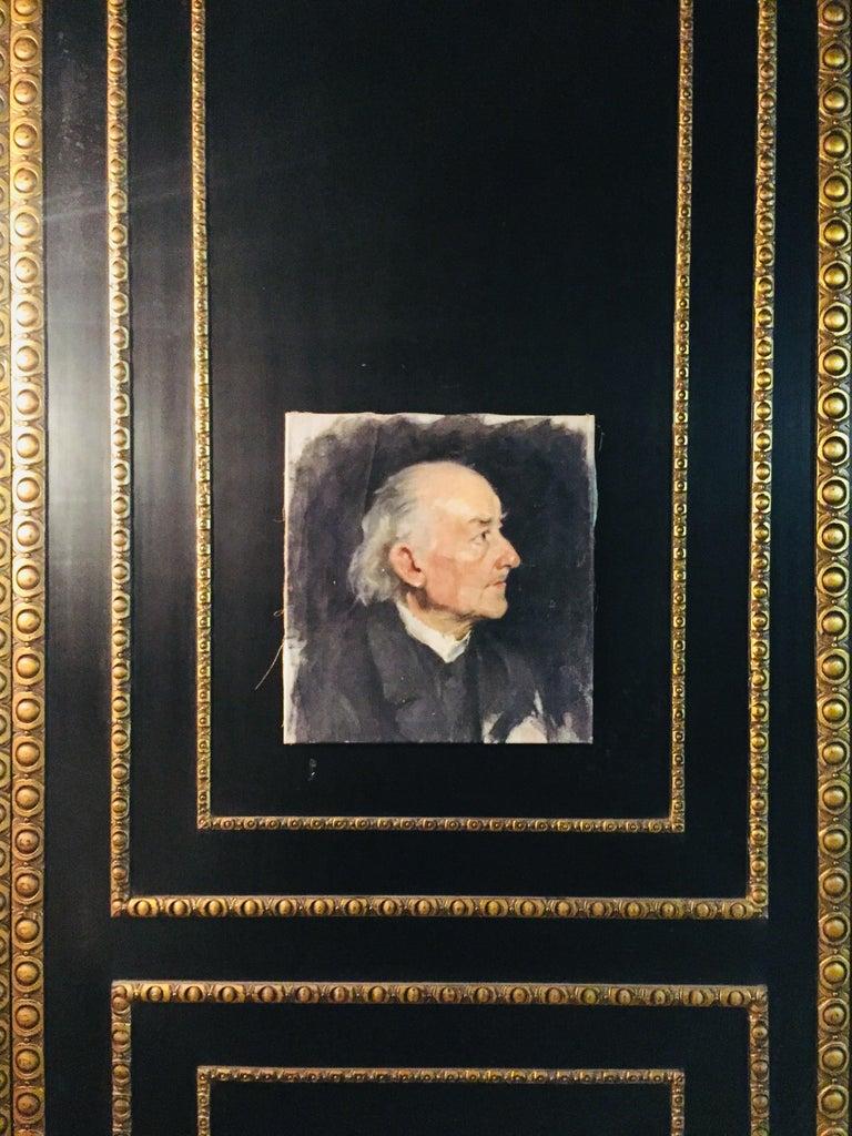 Biedermeier Portrait of an Old Man, circa 1830 For Sale 3