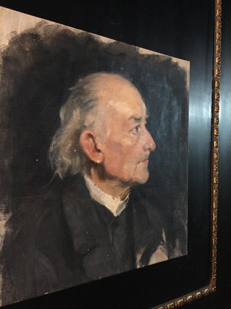 German Biedermeier Portrait of an Old Man, circa 1830 For Sale