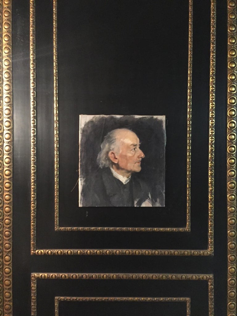 Biedermeier Portrait of an Old Man, circa 1830 In Good Condition For Sale In Berlin, DE
