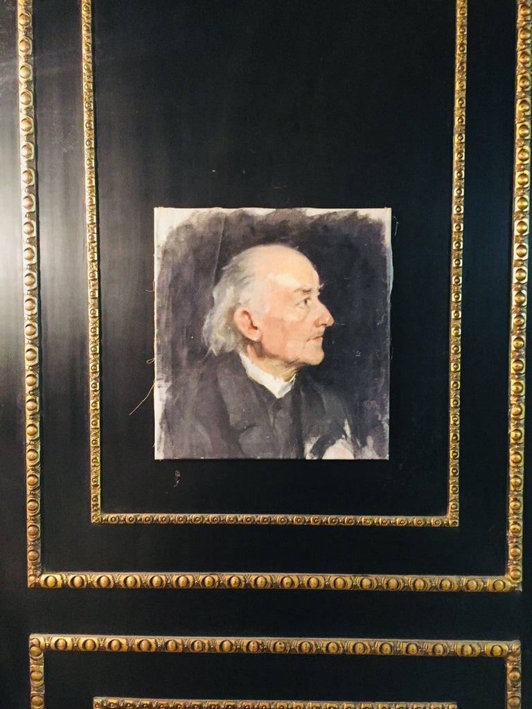 19th Century Biedermeier Portrait of an Old Man, circa 1830 For Sale
