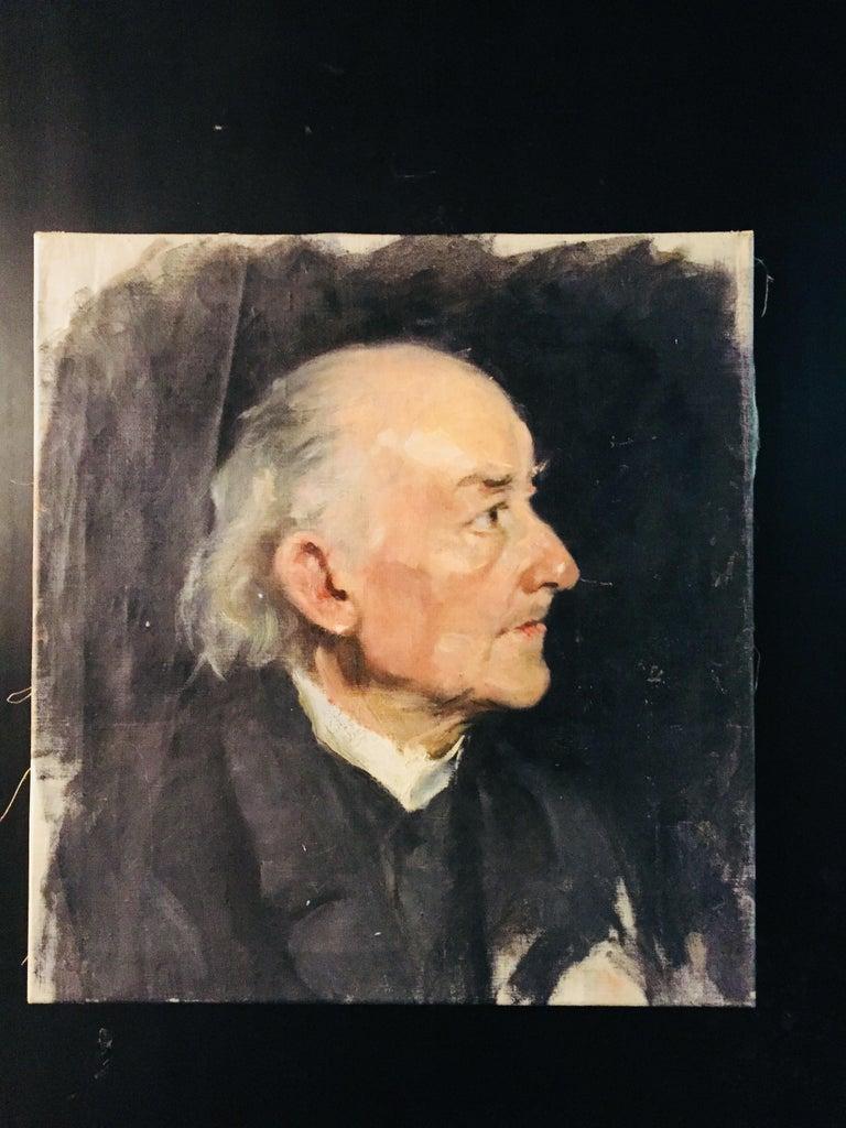 Canvas Biedermeier Portrait of an Old Man, circa 1830 For Sale