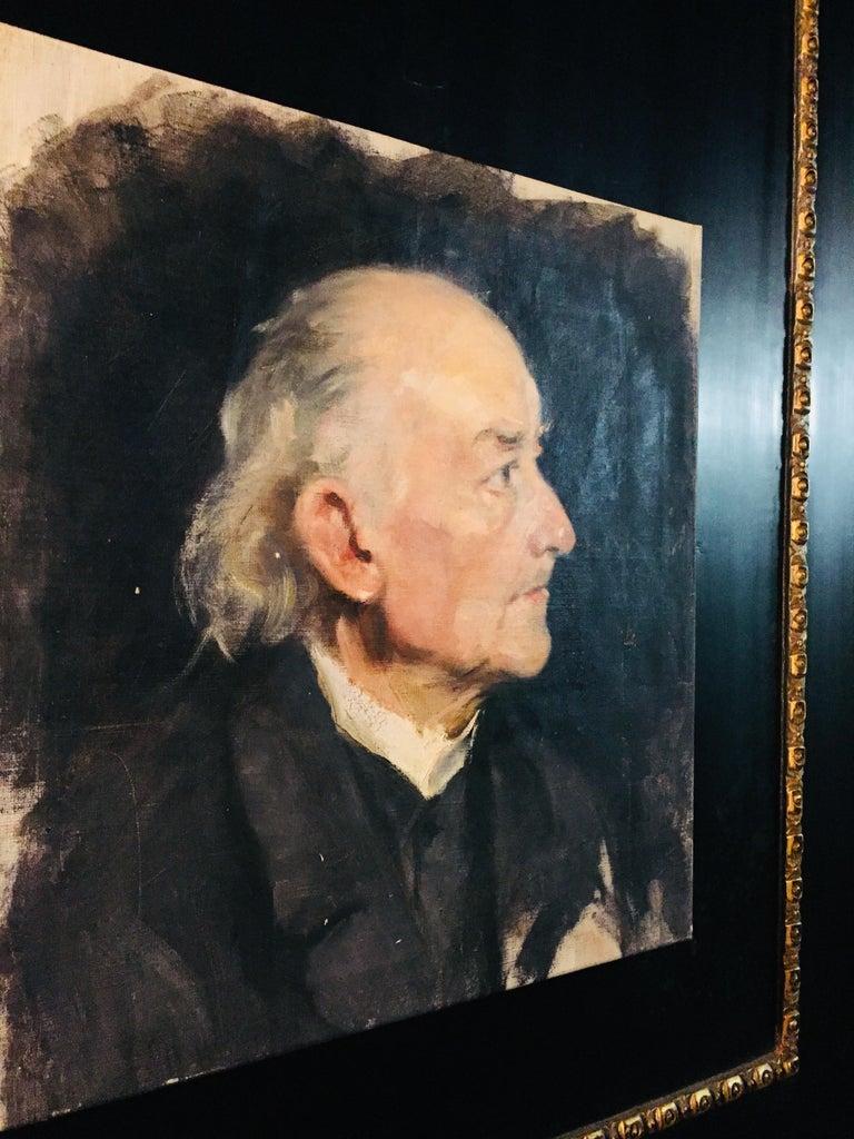 Biedermeier Portrait of an Old Man, circa 1830 For Sale 1