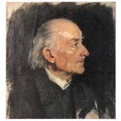 Biedermeier Portrait of an Old Man, circa 1830