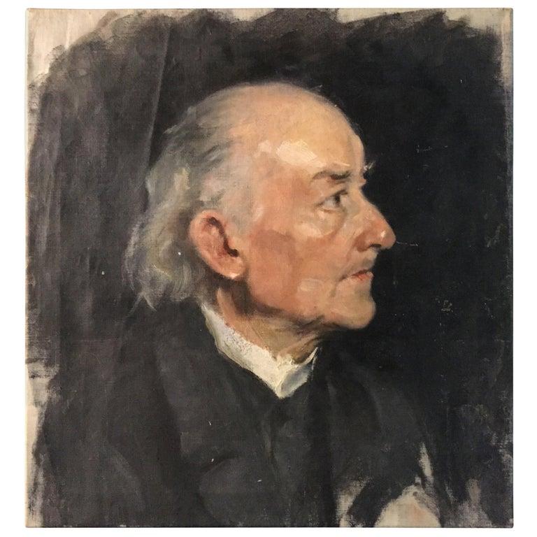 Biedermeier Portrait of an Old Man, circa 1830 For Sale