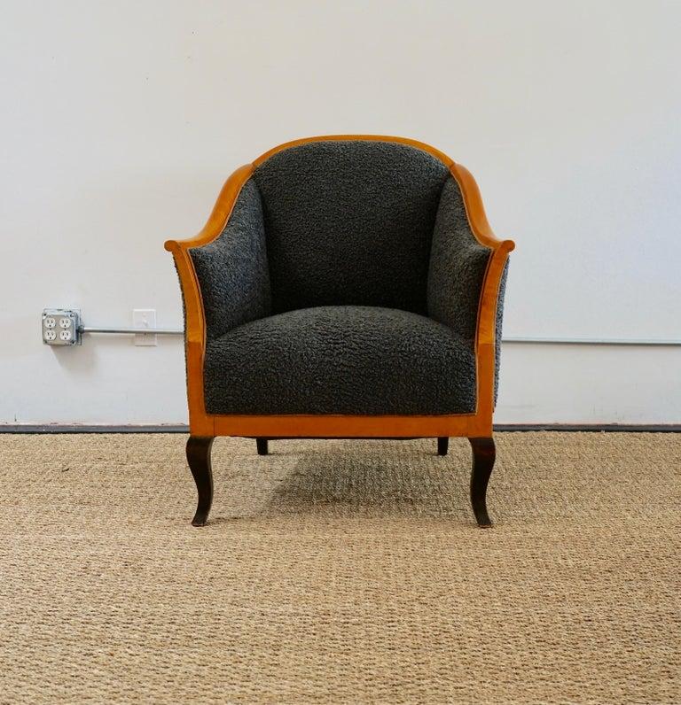 Biedermeier revival limited edition faux shearling club chairs from Martin & Brockett.