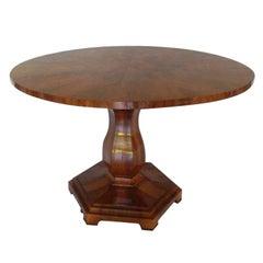 Biedermeier Round Table, 19th Century