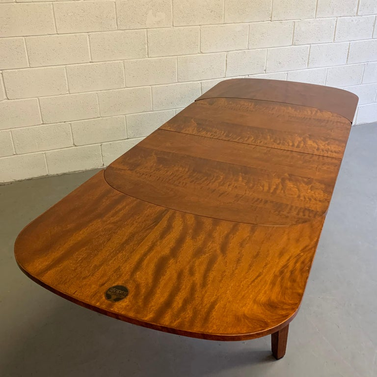 Biedermeier Satinwood Expanding Dining Table by Ruscheweyh Tisch For Sale 5