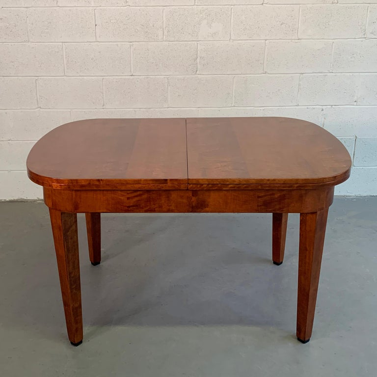 German Biedermeier Satinwood Expanding Dining Table by Ruscheweyh Tisch For Sale