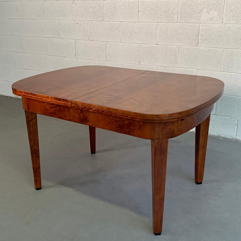 19th Century Biedermeier Satinwood Expanding Dining Table by Ruscheweyh Tisch For Sale