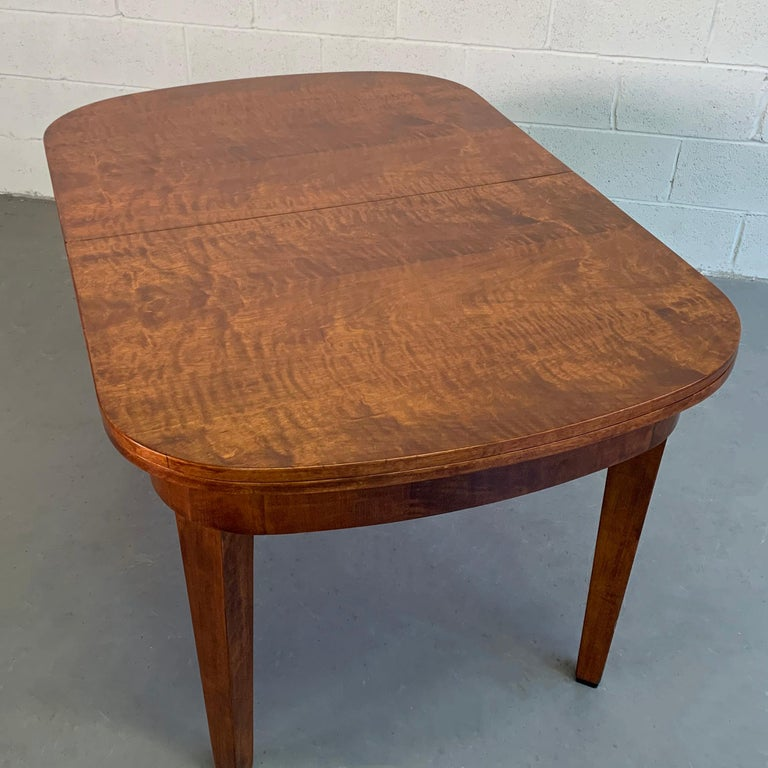Biedermeier Satinwood Expanding Dining Table by Ruscheweyh Tisch For Sale 1