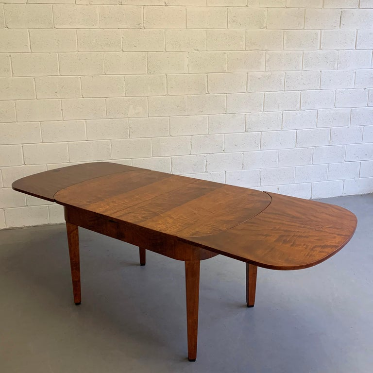 Biedermeier Satinwood Expanding Dining Table by Ruscheweyh Tisch For Sale 2