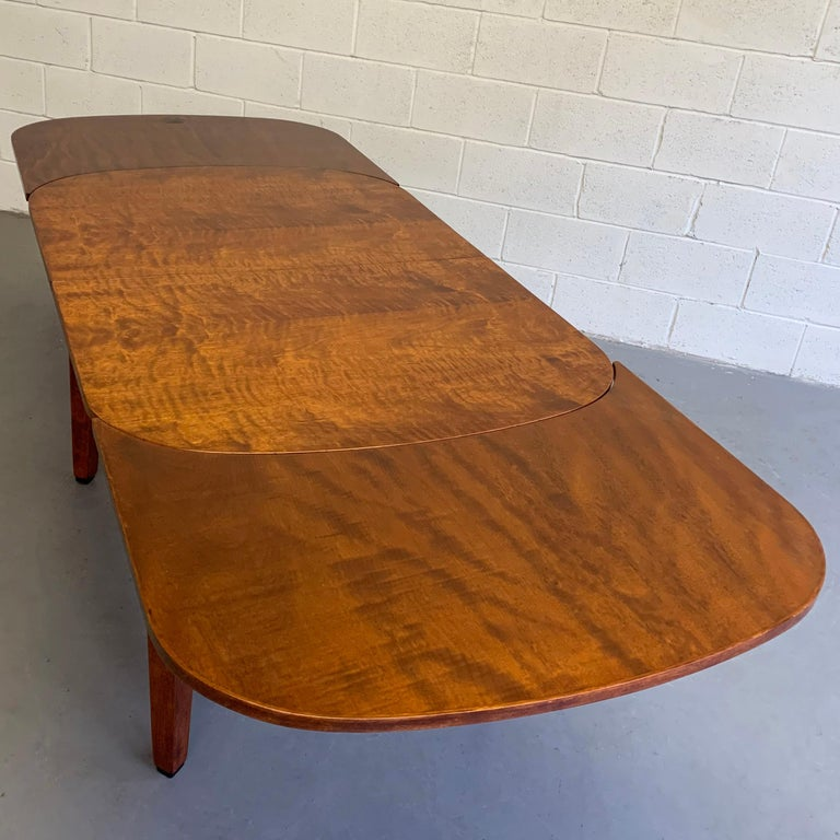Biedermeier Satinwood Expanding Dining Table by Ruscheweyh Tisch For Sale 3