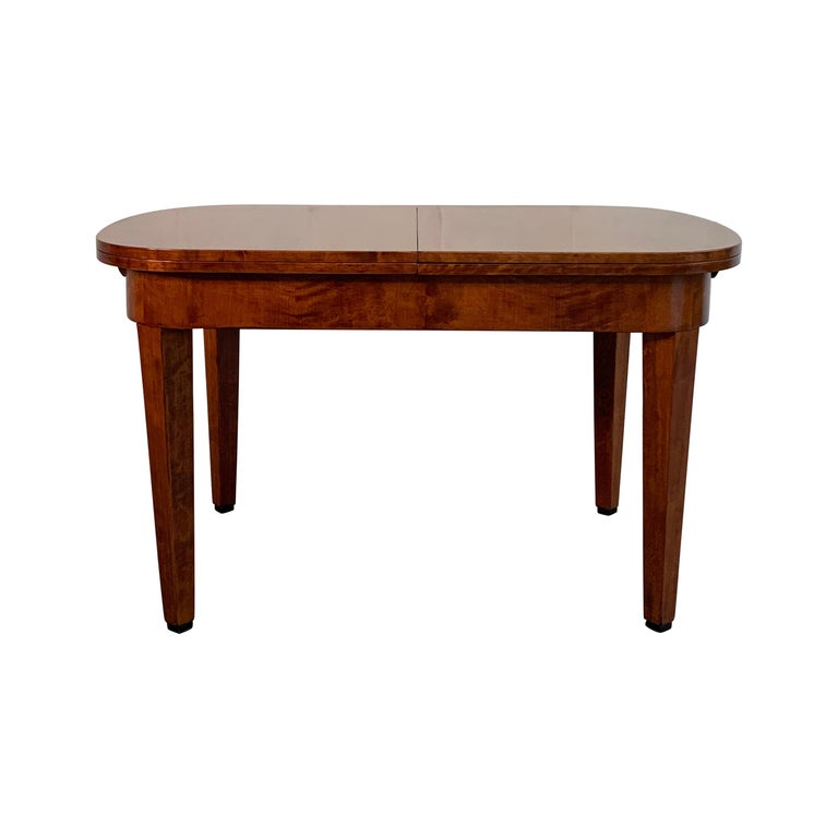 Biedermeier Satinwood Expanding Dining Table by Ruscheweyh Tisch For Sale