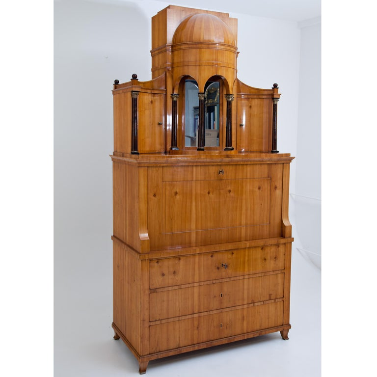 Biedermeier Secretaire, Central Germany, circa 1820 For Sale 6