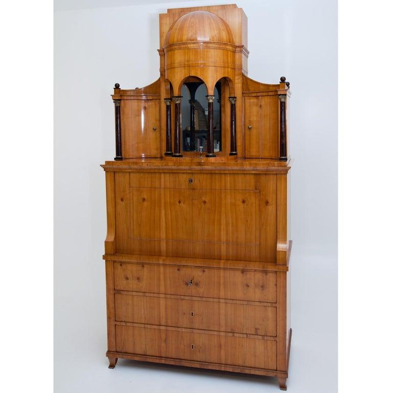 Biedermeier Secretaire, Central Germany, circa 1820 For Sale 7