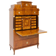 Biedermeier Secretaire, Central Germany, circa 1820