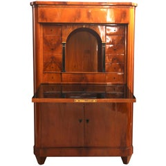 Biedermeier Secretary, Cherry Veneer, Germany circa 1825