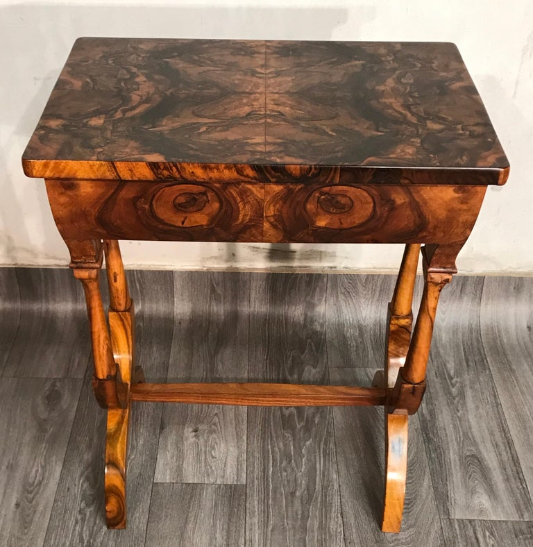 Biedermeier Sewing Table, Austria 1820, Walnut 3