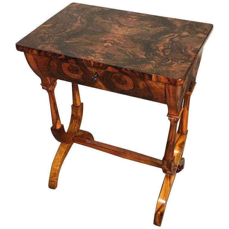 Biedermeier Sewing Table, Austria 1820, Walnut