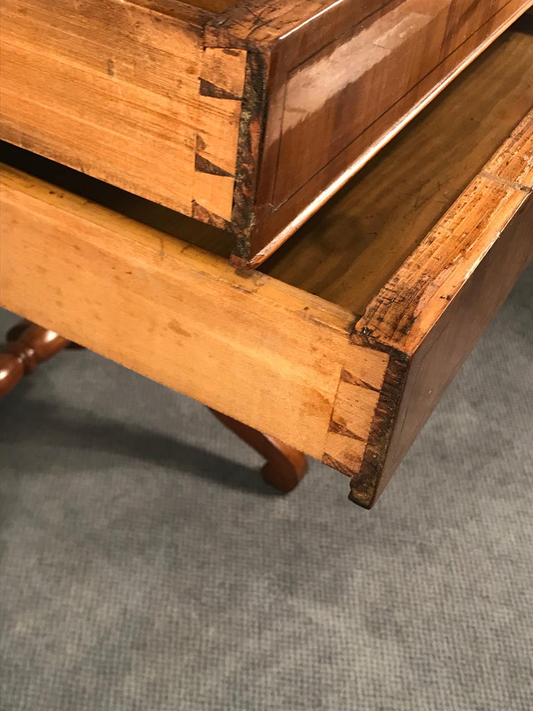 Biedermeier Sewing Table, South German 1820, Cherrywood In Good Condition For Sale In Belmont, MA
