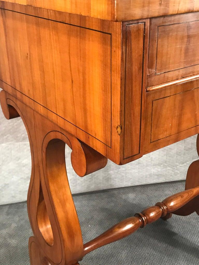 Biedermeier Sewing Table, South German 1820, Cherrywood For Sale 1