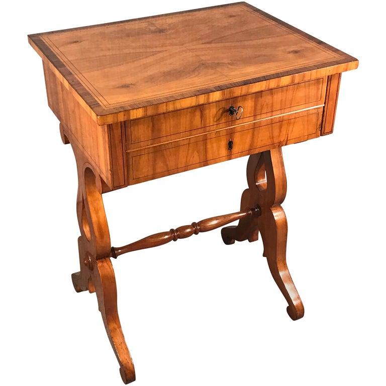 Biedermeier Sewing Table, South German 1820, Cherrywood For Sale