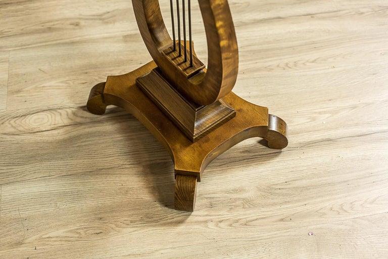 Biedermeier Sewing Table Veneered with Birch For Sale 5