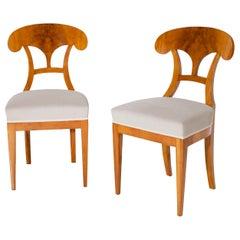 Biedermeier Shovel Chairs, circa 1820