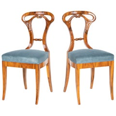 Biedermeier Shovel Chairs, circa 1830