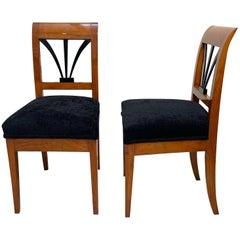 Biedermeier Side Chairs, Cherrywood, Shellac, South Germany, circa 1820