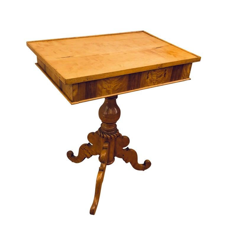 Swedish Biedermeier Side Table For Sale