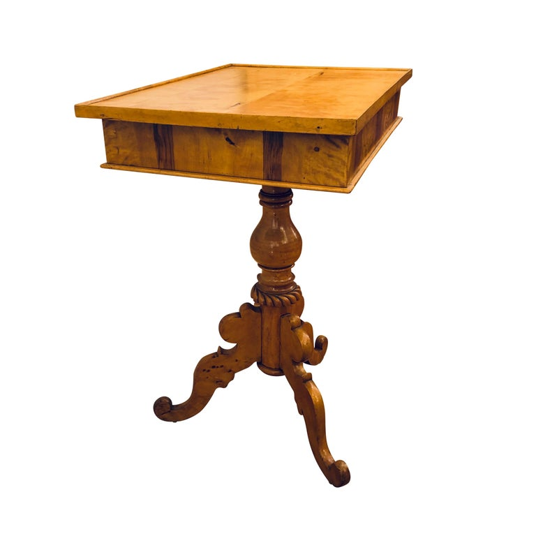 Hand-Crafted Biedermeier Side Table For Sale
