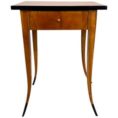 Biedermeier Side Table with Drawer, Cherrywood, South Germany, circa 1830