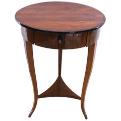 Biedermeier Side Table with Drawer, Walnut, South Germany, circa 1825