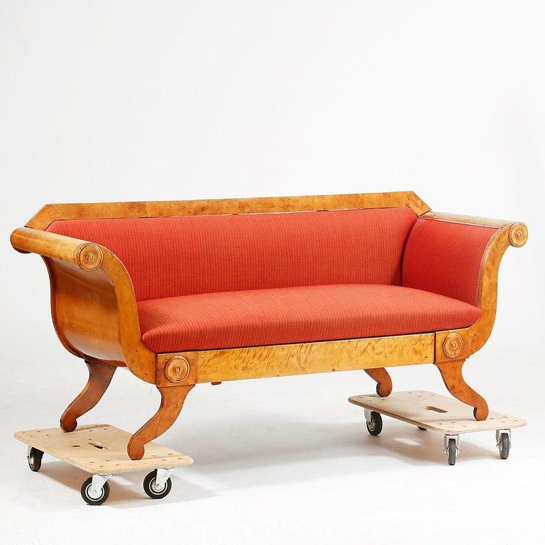 Biedermeier Sofa Couch Settee Honey Color 3 4 Seat