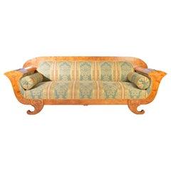 Biedermeier Sofa in Birch-Sweden 1900s