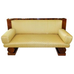 Biedermeier Sofa Made of Walnut circa 1830 with Backhausen Fabric