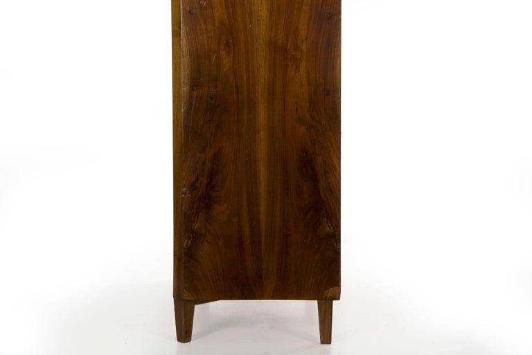 Biedermeier Style Antique Walnut Display Bookcase Cabinet Vitrine For Sale 8