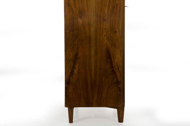 Biedermeier Style Antique Walnut Display Bookcase Cabinet Vitrine For Sale 11