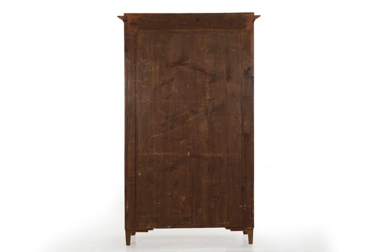 Biedermeier Style Antique Walnut Display Bookcase Cabinet Vitrine For Sale 13