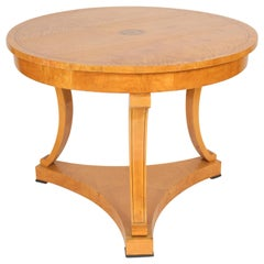 Biedermeier Style Birch Center Table